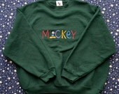 Vintage 90s MICKEY MOUSE Officially Licensed Disney Crewneck Sweatshirt Made in USA