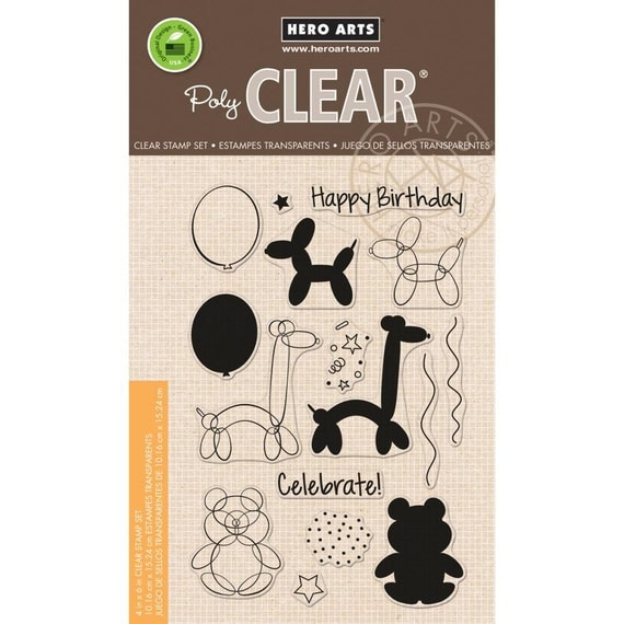 Hero Arts Balloon Animal Birthday CL940 Birthday Clear Stamp