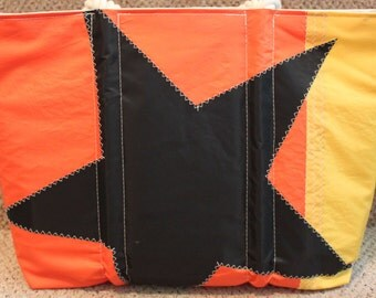 recycled black star sail bag