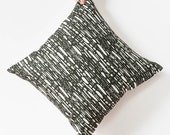 Black and White Pillow Cover - Patterned Throw Pillow - Graphic Decorative Pillow - Modern Home Decor