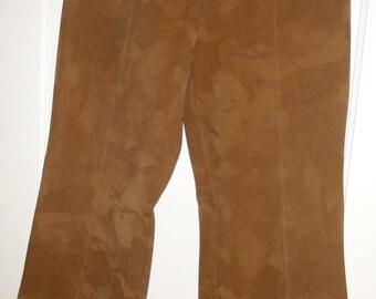 Vintage Suede-Like Women's Vintage Pants Retro 1960s Beeline Fashions Boho Chic