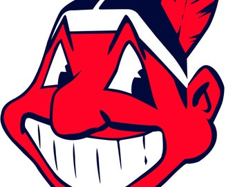 Chief Wahoo Decal, Cleveland Indians Decal, Indians Decal, Vinyl Wall Decal, Baseball Decal, Boy's Bedroom Decor, Baseball Decor, Graphics