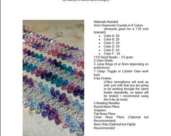 DIY 14 Bracelet Tutorial Bundle: Right Angle Weave Beaded Bracelets, Save 50%, Instant Download
