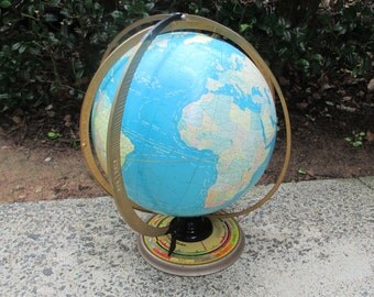 "Vintage Globe, Crams 16"" Diameter Deluxe Political World Globe"