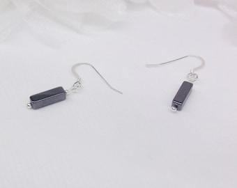 Hematite Earrings Gray Earrings Sterling Silver Earrings Dangle Earrings BuyAny3+1 Free