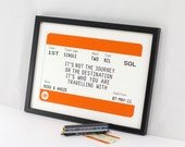Personalised Train Ticket, Personalised Wedding Gift, Valentines, Travel Print, Wedding Print, Anniversary Gift, Love Quote, Travel Quote