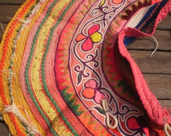 Hmong Textile Vintage Embroidered Collar