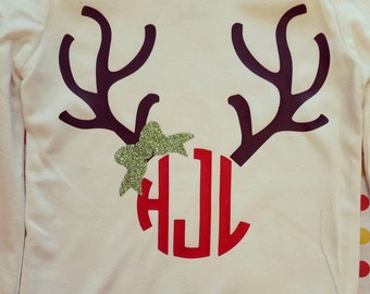 Monogram Girls Deer Shirt
