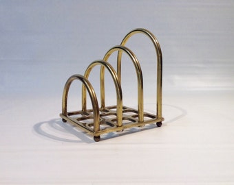 Brass Letter Stationary Tiered Organizer