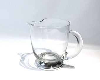 Cocktail Pitcher with Silver Base
