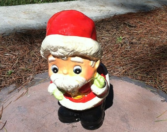 "Vintage 70's  Santa Claus ""PIGGY BANK"" Whimsical Face"