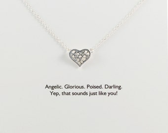 HEART << antique lace intwined heart charm << Heaven Sent card >> every inch is perfectamundo darlin