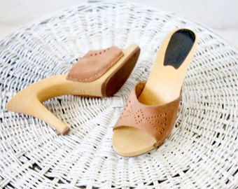 suede cut out heels / 7