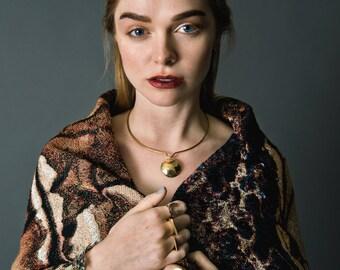Mithras Choker || Modern Geometric Gold Necklace