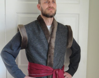 Adult Felt and Fur Costume Vest