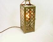 Upcycled Lantern Style Lamp