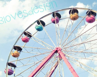 Ferris Wheel Printable Art 8x10