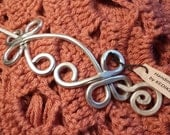 VERY STURDY Unique CELTIC Brooch, Hair Pin or Shawl Pin For Scarf made with Aluminum Wire - Very light to wear -