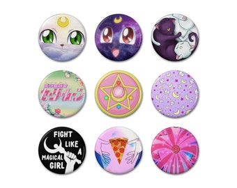 "Sailor Moon Inspired 1.25"" Buttons"