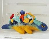 Sea dragon Needle felted Dragon toy Fantasy dragon figurine