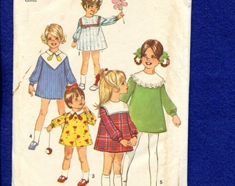 Vintage 1960'S Simplicity 8474 Sweet Mod Dresses for Little Girls Size 1 UNCUT
