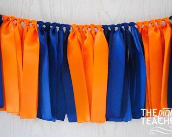 Navy Orange Bunting - FREE Shipping - Auburn Bunting - Graduation Party - Graduation Bunting - Team Bunting - Football Bunting - Auburn