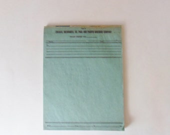 Train Order Forms, Chicago, Milwaukee, St. Paul and Pacific Railroad Company