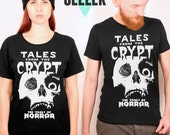 Tales from the crypt vintage horror book black tshirt