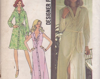 70s Botton Front Dress Pattern Simplicity 6894 Size 10