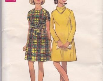 60s A-Line Dress Pattern Butterick 5171 Size 10 Uncut