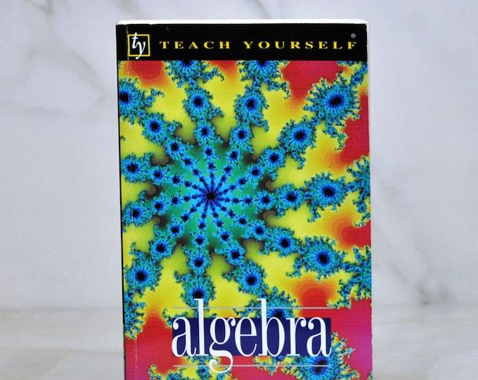 Vintage Teach Yourself Algebra, 2nd Edition, 1996, Paperback, Abbott Patrick, Leon Wardle, Students, Learning, Math, Equations, Education