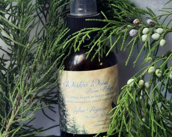 Natural room spray - air freshener spray mist - WINTER WOOD Room Perfume - corset, lingerie, linens deodorizer - essential oils