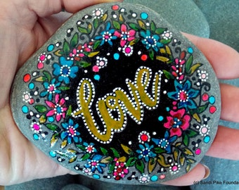 and the most precious of these is love / painted rocks / painted stones / art on stone/ paperweights / love / anniversarsy / wedding / rocks