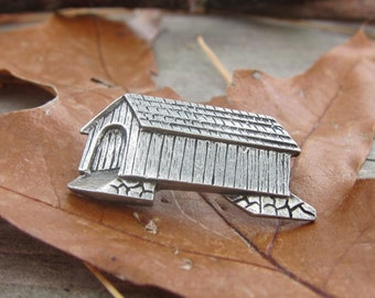 Covered Bridge Lapel Pin - CC109