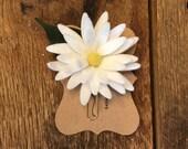 Daisy Felt Flower Paper Clip/Daisy Planner Clip/Flower Bookmark/Planner Accessory