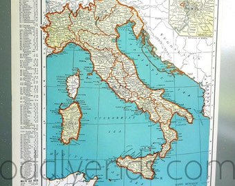 1939 Italy Atlas Map