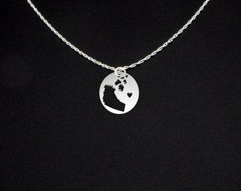 Northwest Territories Necklace - Northwest Territories Jewelry - Northwest Territories Gift