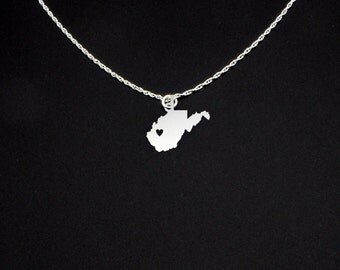 West Virginia Necklace - West Virginia Jewelry - West Virginia Gift