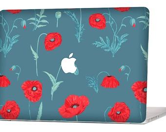 RED FLORAL MacBook Decal Macbook Stickers Macbook Skin Macbook Case Macbook Pro Cover Laptop Stickers Laptop Skin Laptop Decal Case