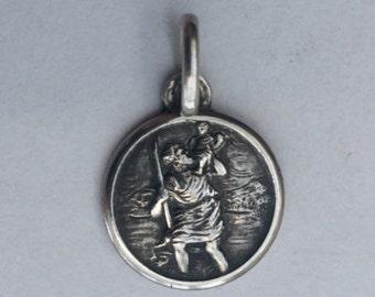 Small St Christopher Traveller's Charm - Vintage 'Protector' Bracelet Charm, Pendant