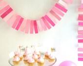 pink ombre paper garland - 8 feet