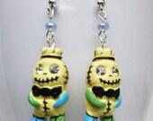 Voodoo Doll Earrings - gift for her, girlfriend, sister, teenager, cute, halloween, geek, mom, easter