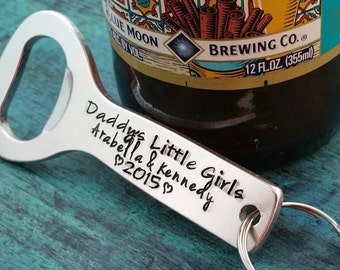 Gift for beer drinker, personalized beer bottle opener, Daddy's Little Girls, Father's Day gift,  Present from kids, dad, husband, custom
