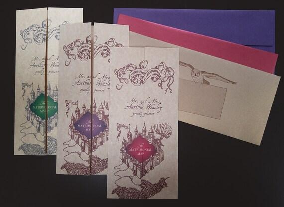 Wedding Invitation Map Maker: Custom Invitations Based On Harry Potter Hogwarts