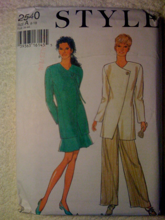 Style Sewing Pattern Misses Jacket, Skirt and Pants Size 8-18 90s