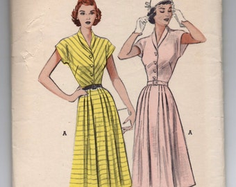 "1950's Butterick  One-Piece Dress with Cropped Kimono Sleeves Pattern - Bust 30"" - No. 5773"