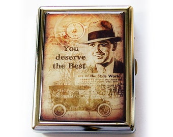 Cigarette Case, Fathers Day Gift, Case for Smokes, Metal cigarette case, Cigarette box, You deserve the best, Gift for Dad (5553)