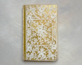 Ivory Guest Book, Unique Wedding Vows Keepsake, Literary Book Guest Book, Anniversary Gift, Vintage Blank Book, Custom Antique Journal