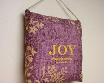 Joy Decor Pillow, Accent Pillows, Religious Quote Pillows, Spring Decor Keepsake Pillows, Easter Decor