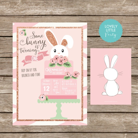 DIY Printable Some Bunny Invitation, Some Bunny is turning one, some bunny theme, bunny birthday theme